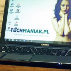 Wideotest Toshiba Satellite L855  elegancki laptop z ekranem 15,6