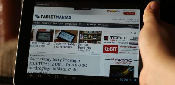 Wideotest: Onda V812 – wydajny tablet z 2 GB RAM i IPS