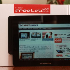 Wideotest: Modecom FreeTab 8001 IPS X2 3G – niedrogi tablet 8″ z modemem 3G