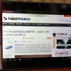 Wideotest: Kruger&Matz KM1010  wydajny tablet w dobrej cenie