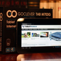 Wideotest GOCLEVER Tab M703G  niedrogi tablet z GPS, Bluetooth i 3G